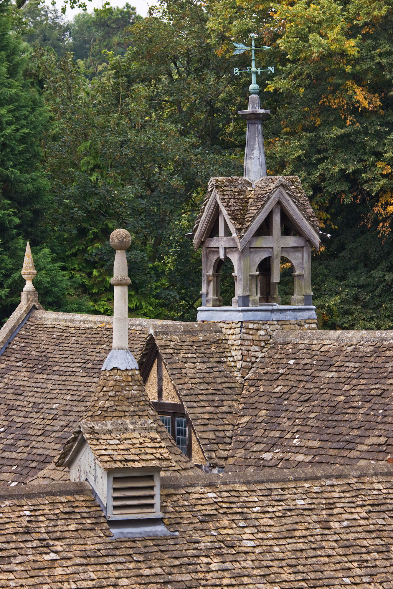 an image of 19th century stable roofs, located in Wiltshire UK