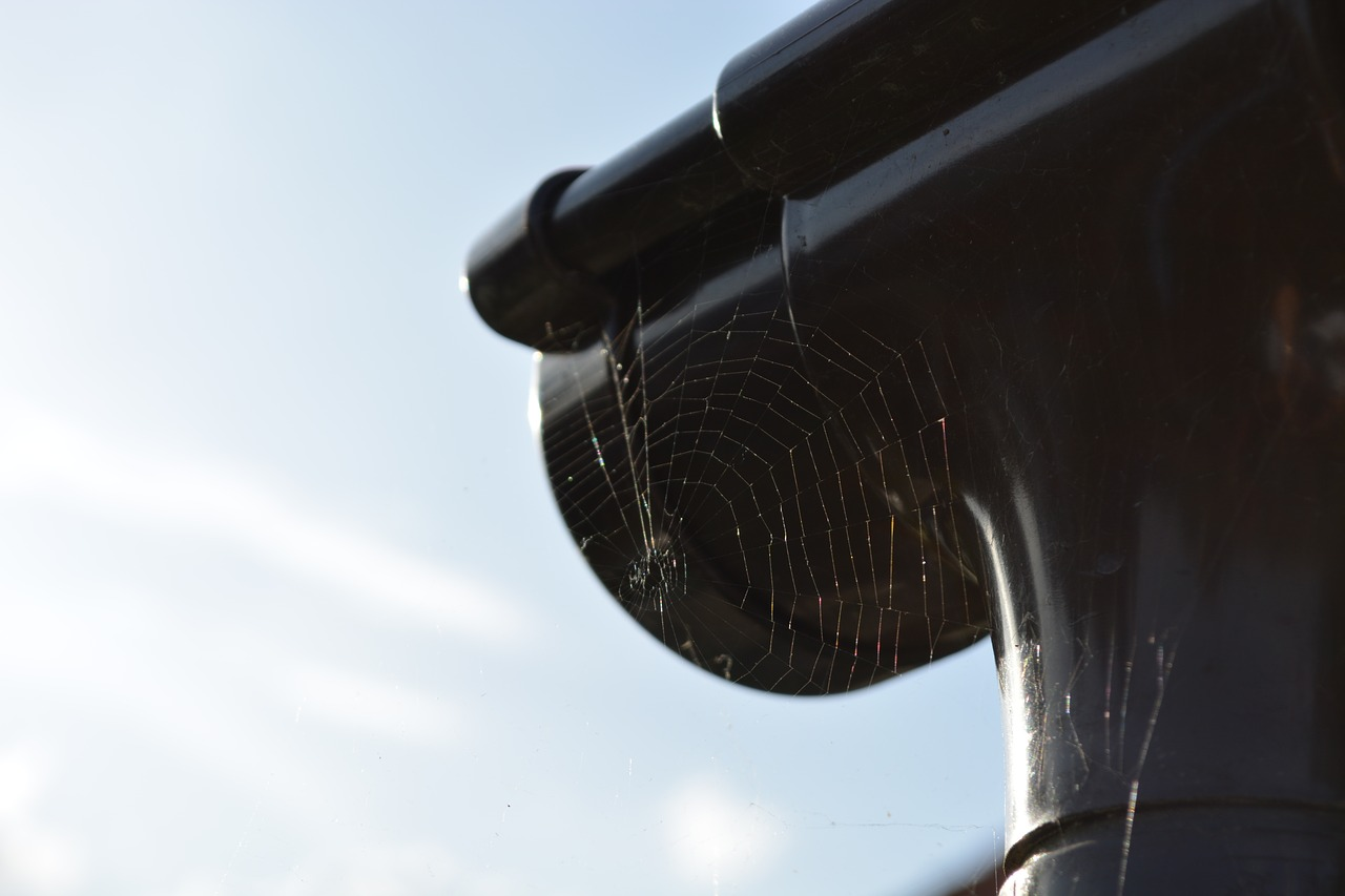 Close up image of the corner of guttering
