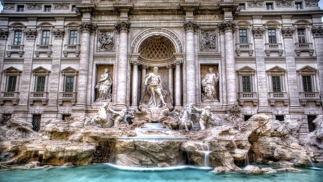 An image of Rome's Trevi Fountain, the subject of recent restoration work